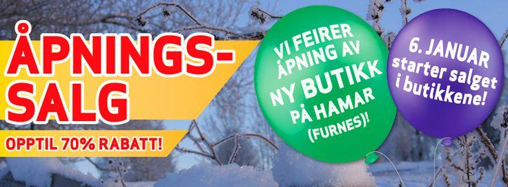 Åpningssalg! Vi feirer ny friluftsmagasinet butikk på Hamar med opp til 70% rabatt! - Magasinet.no