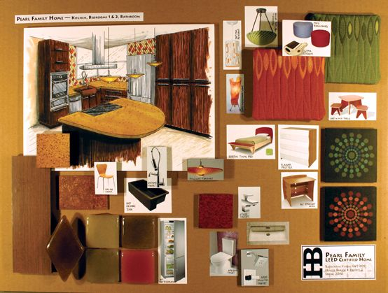 Holley Bakich Interior Design Presentation Board