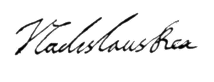 Wladyslaw IV Vasa's signature