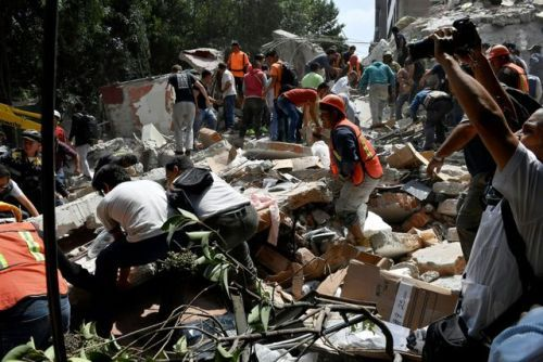 7.1 magnitude earthquake rocks Mexico CityA major earthquake of...  7.1 magnitude earthquake rocks Mexico City  A major earthquake of magnitude 7.1 struck central Mexico on Tuesday killing at least four people and trapping more in buildings that had collapsed or caught fire officials said.  A civil protection official said at least two deaths occurred in the state of Puebla near Mexico City. Media reported at least five deaths in the state but that figure could not immediately be confirmed…