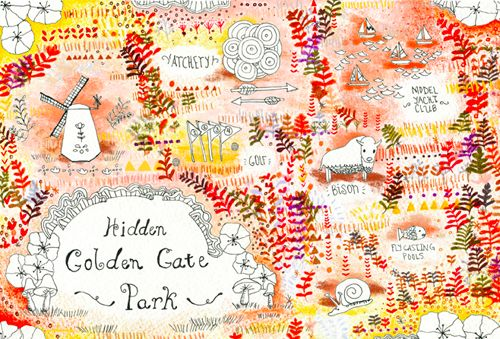 Hidden Golden Gate Park Map