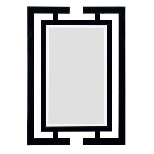 Shinto Gloss Black Wall Mirror