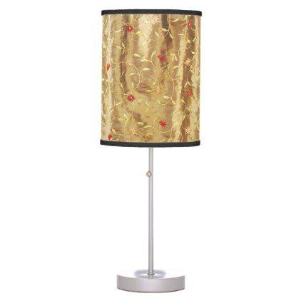 #Home Decor Floral Antique Brown Desk Lamp - #home #lamps #decor #lamp #tablelamp #tablelamps #home #living