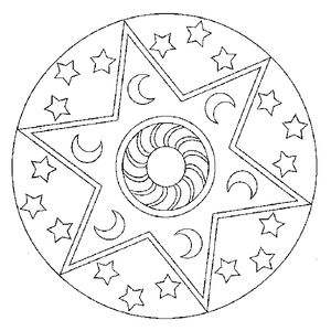 Mandala lune