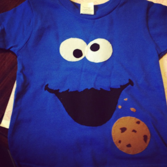cookie monster shirt! Going to make an elmo one for my sons birthday!