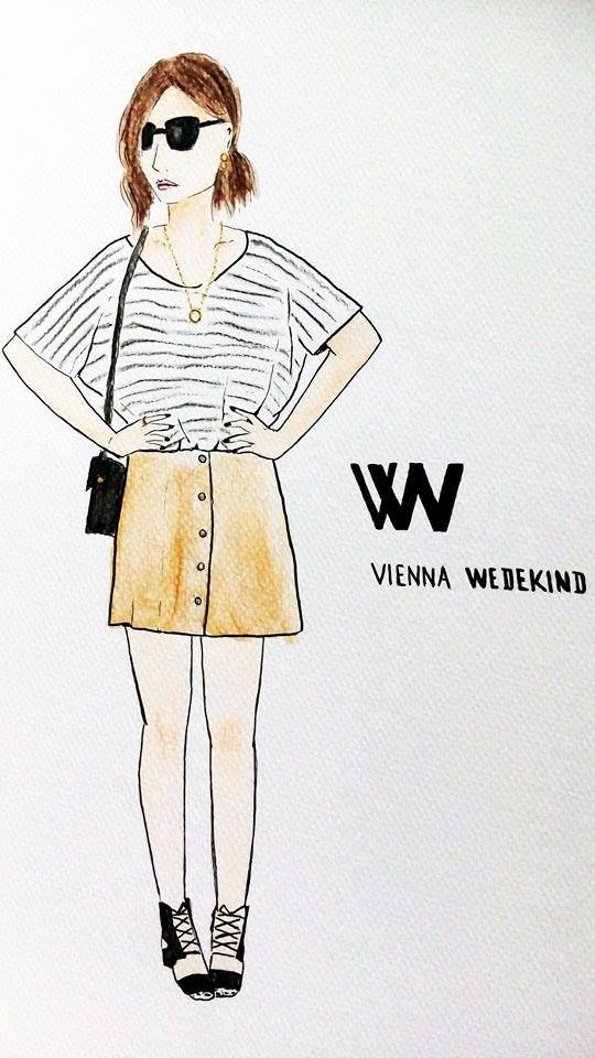 @VIENNAWEDEKIND wearing one of trends from Spring 2015 #bloggerdrawing #luciedraws