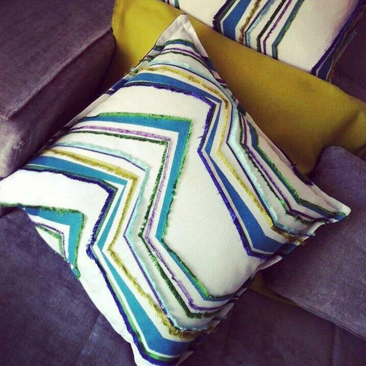 Sea edition pillow #pillow #interiortex #interiordesign #artextile #moda #casa #azUrro #verde #home product artextile