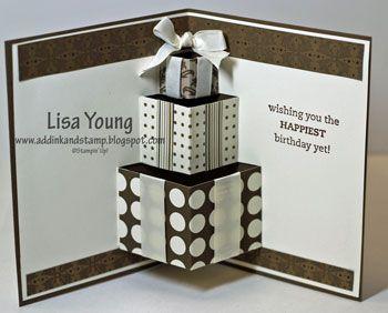 Tutorial for the Birthday Pop Up card #diy #craft www.BlueRainbowDesign.com