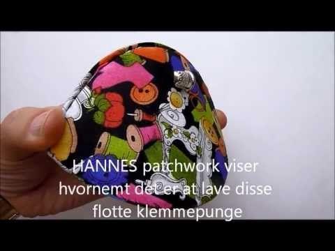 Klemmepung - så nemt... HANNES patchwork Clover clam shell accessories case