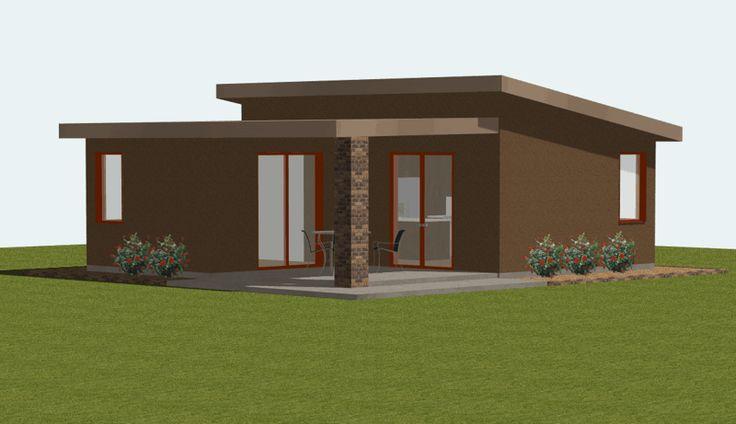 Casa moderna y pequeña de 1 dormitorio y 55 m2