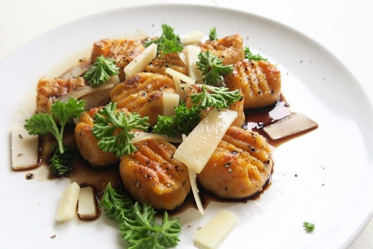 Glutenvrije zoete aardappel gnocchi