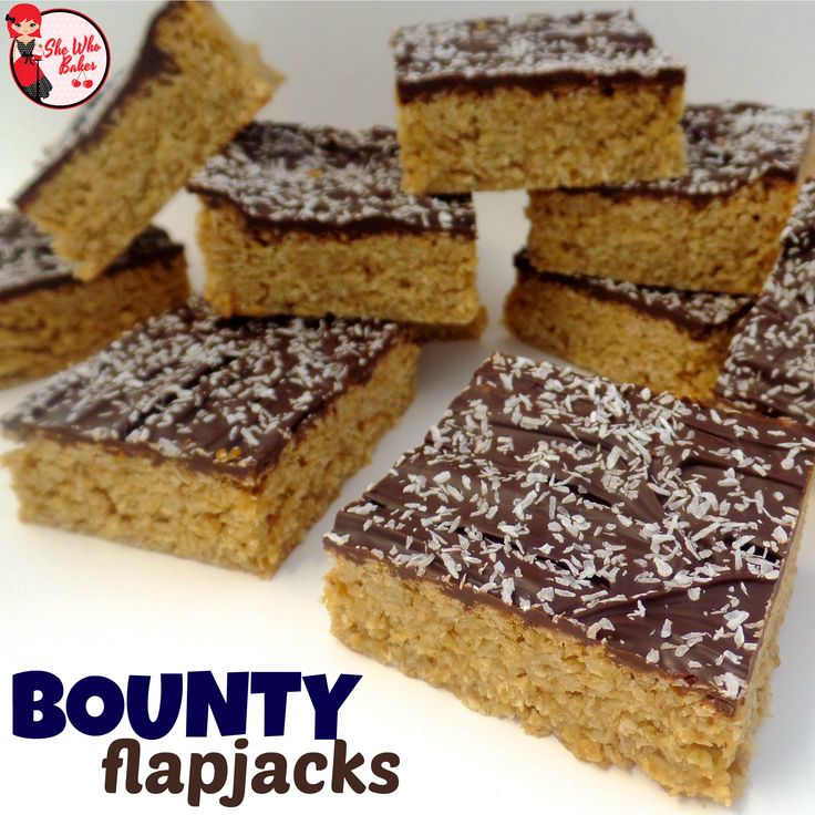 Bounty (Chocolate and Coconut) Flapjack Reipe - She Who Bakes