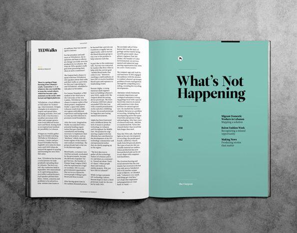 The Outpost Magazine #grafica #impaginato