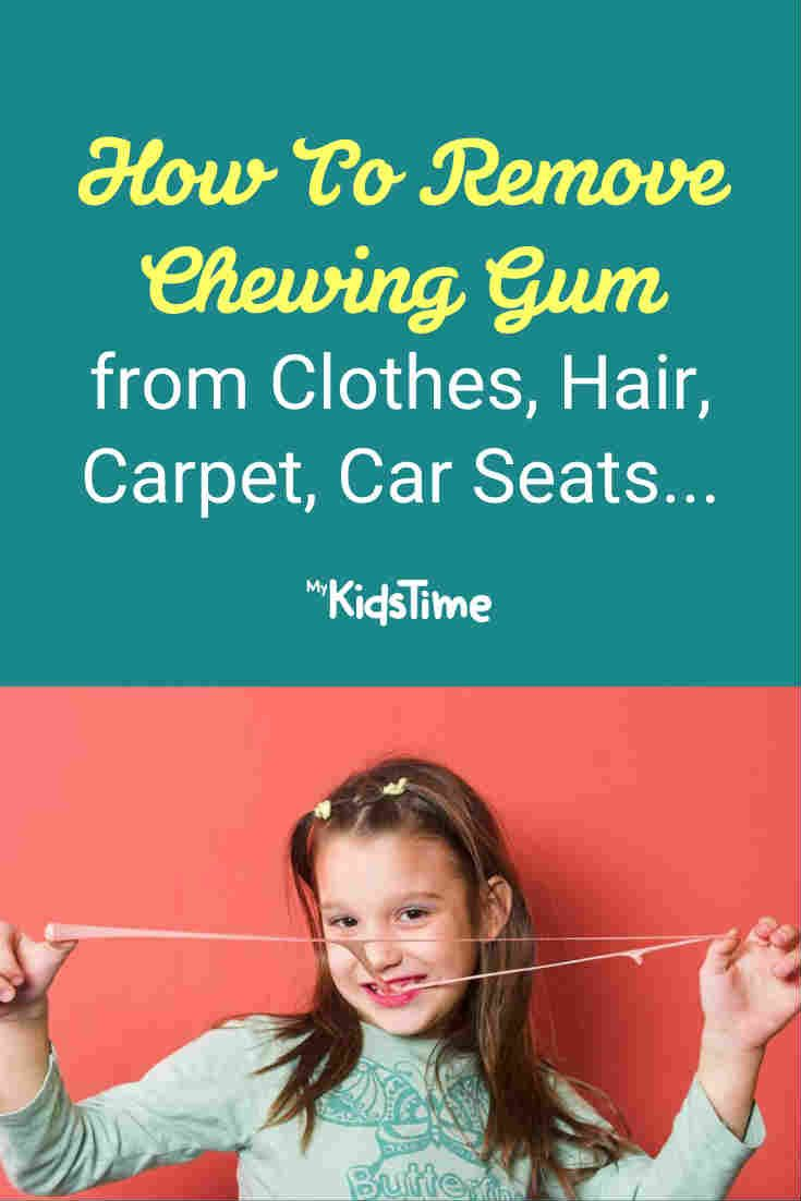How to remove chewing gum from clothes hair carpet car