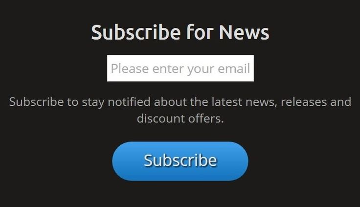 Subscribe on our website to stay notified about the latest news, releases and discount offers.
