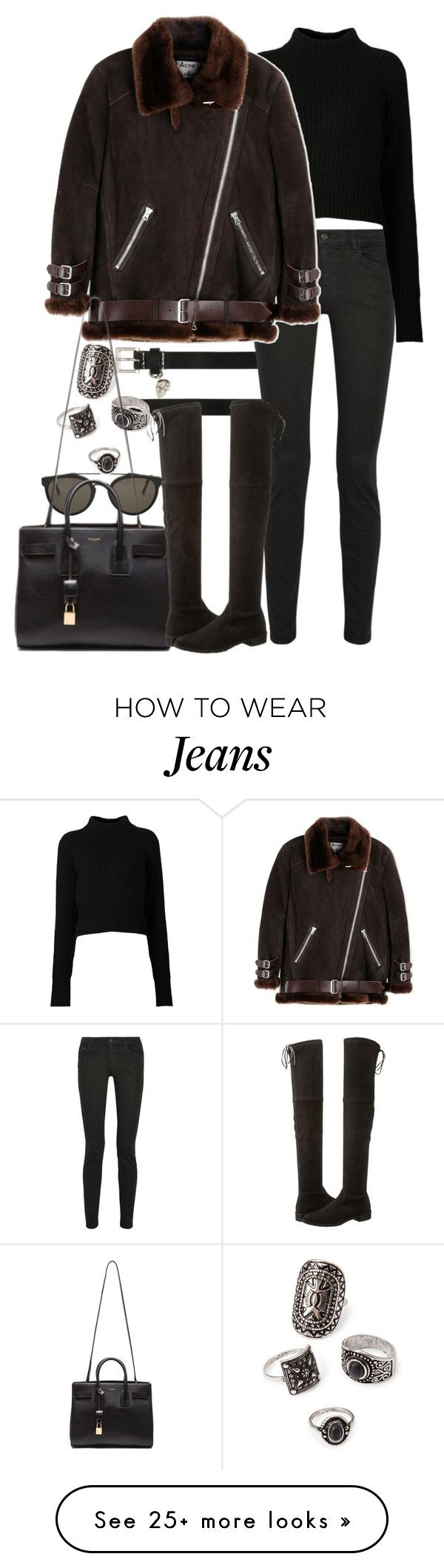 """""""Untitled #8218"""" by nikka-phillips on Polyvore featuring Alexander McQueen, RetroSuperFuture, Proenza Schouler, Acne Studios, Forever 21, Yves Saint Laurent and Stuart Weitzman"""