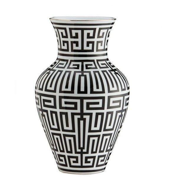 Richard Ginori 1735 Home Labirinto Black Porcelain Ming Vase (1.930 BRL) ❤ liked on Polyvore featuring home, home decor, vases, porcelain vase, ming vase, onyx vase, handmade home decor and black home decor