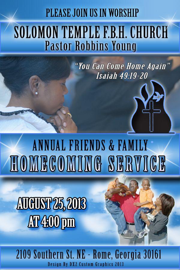Solomon Temple F.B.H Church Homecoming - 105.9KB