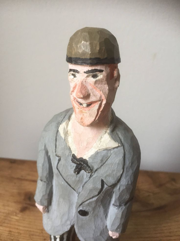 Swedish/hand carved/ginger /character man figurine /hand painted/ woodworking by WifinpoofVintage on Etsy