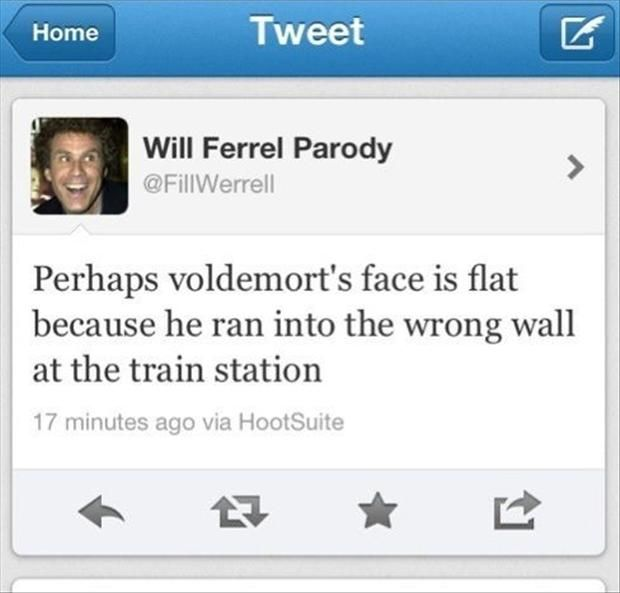 I'm not crazed Harry Potter fan, but this made me laugh really hard