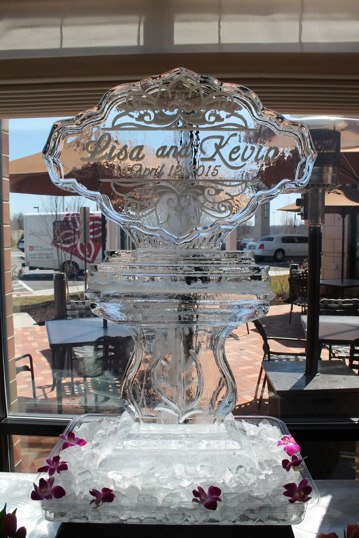 Names in Ice with Date Ice Sculpture Ice Sculptures, Wedding Decoration,Ice Sculptures, Wedding Ice Sculpture, Ice Sculpture Wedding Luge, Ice Sculpture Monogram, Ice Carving. Wedding Decor, Wedding Reception, Wedding Elegant