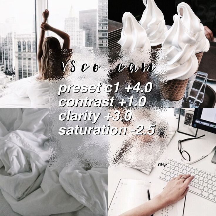 vsco filters and theme advice   WHITE FILTER works best with pictures with white in them rate 10/10 C1 is a free preset
