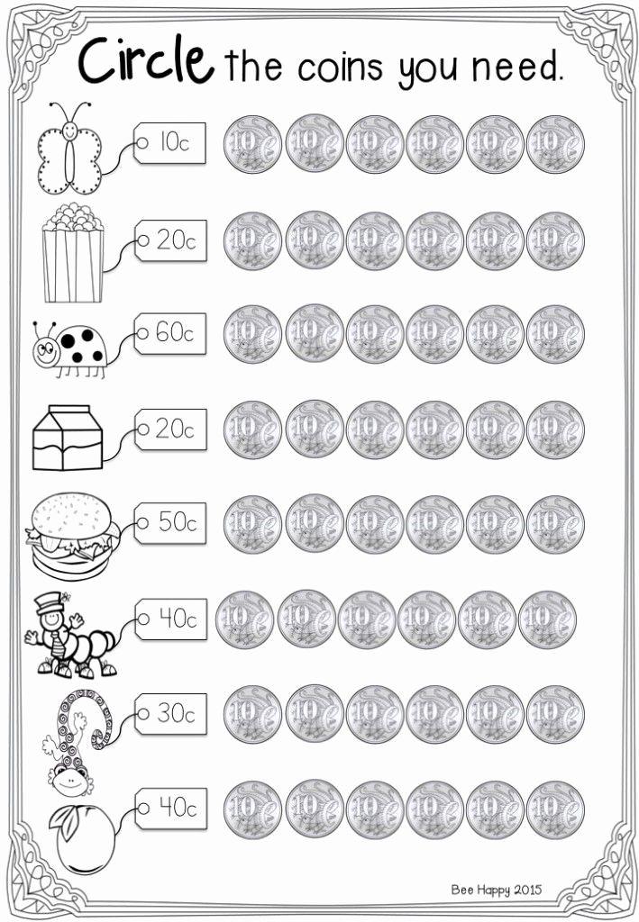 Australian Money Worksheet For Kindergarten Money Math Worksheets Money Math Money Worksheets Kindergarten money worksheets australia