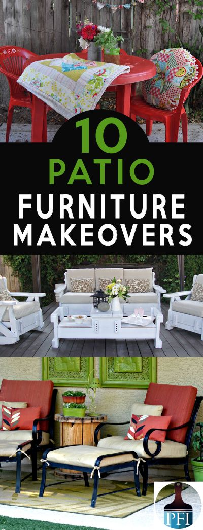 10 Best Patio Furniture Makeovers On Pinterest