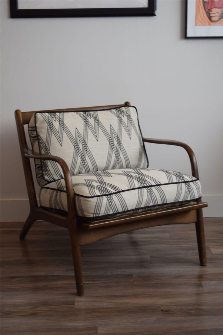 Mid-Century Modern Upholstered Arm Chair on Chairish.com