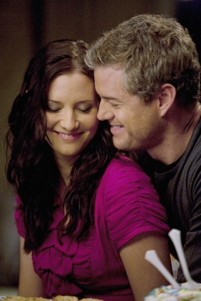 "Mark Sloan and Lexie Grey from the TV show ""Grey's Anatomy."""