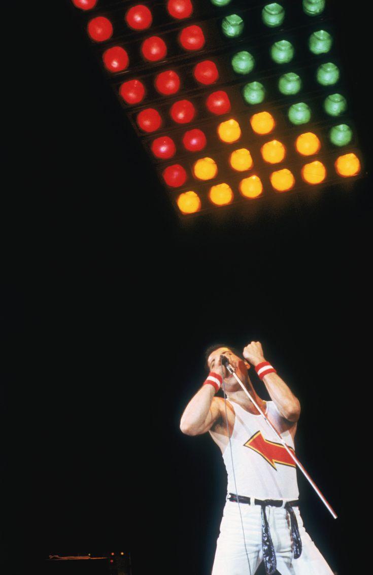 Freddie Mercury al Milton Keynes, Buckinghamshire, nel1982. (Keystone/Hulton Archive/Getty Images)