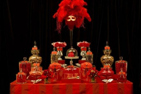 red candy bar station