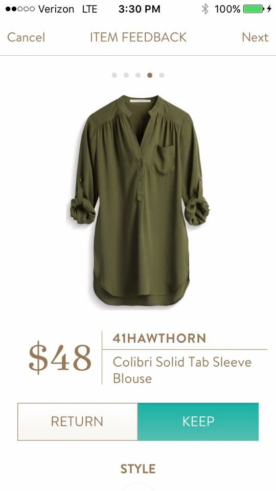 I have something like this in plaid, but I love this solid olive color!