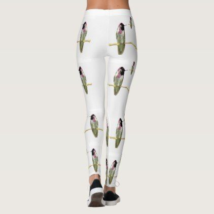 Hummingbirds Fashion Leggings-White/Pink/Green Leggings - gift for her idea diy special unique