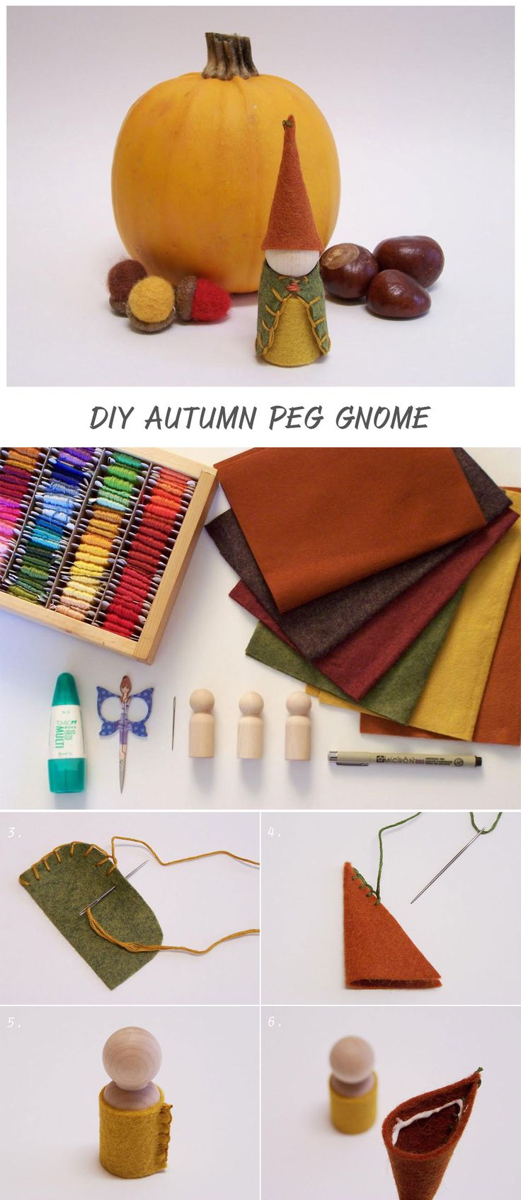 Perfect autumn craft to share with the little makers in our lives...