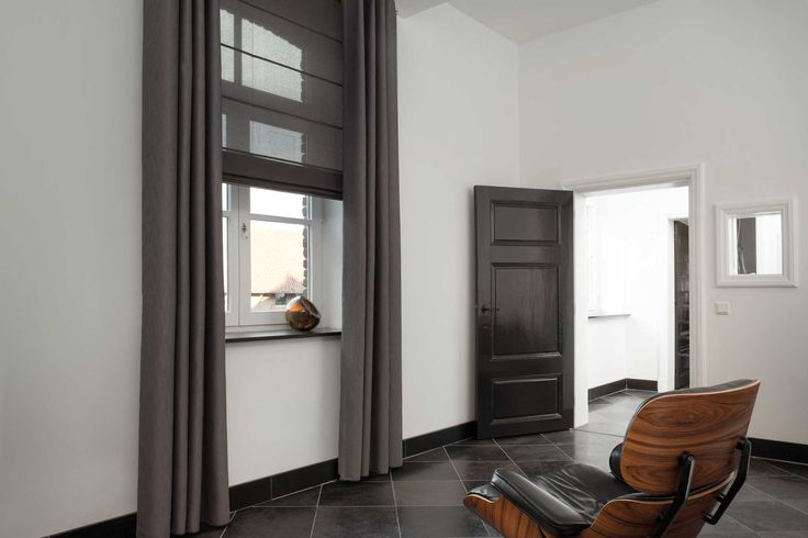Grijze gordijnen en vouwgordijn van toppoint grey curtains mijn kleur grijs grey - Kleur schilderen master bedroom ...