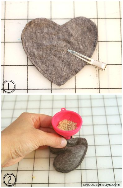 How to make heart hand warmers, a handmade gift idea by Swoodson Says ♥ Fleece Fun