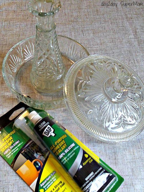 Hometalk :: Thrifted Glass Bird Feeders