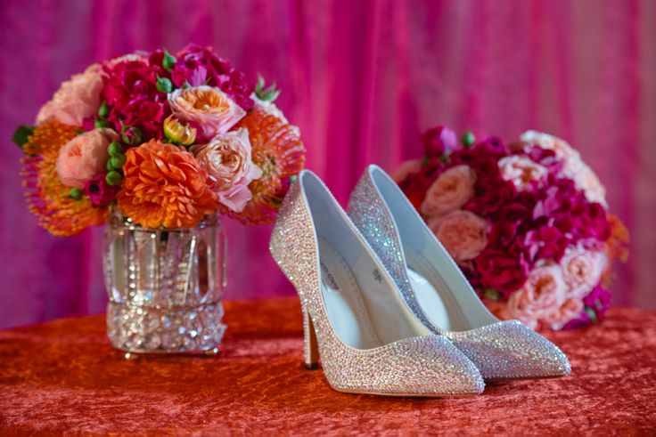 Bridal shoes www.paradoxlondon.com - Flowers www.essentialcouture.co.ujk.