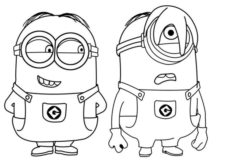 Dibujo de los Minions para imprimir y colorear 13 de 24