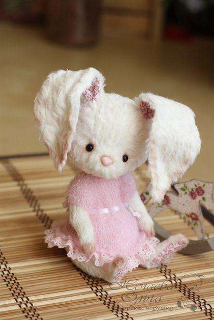 Зайка Рози, тедди игрушка ручной работы #teddy #toy #ooak