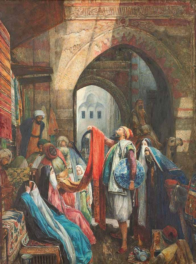John Frederick Lewis, R. A. - A Cairo Bazaar; The Dellál
