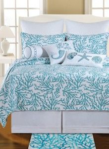Teal Coral Bedding Set. Browse the Ultimate Guide to Beach Themed Bedding Sets!