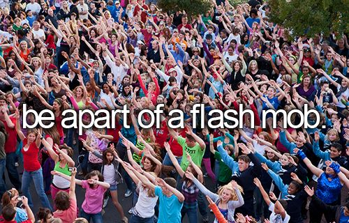 Could be a better background picture for this, though... I mean this flash mob looks a bit Nazi-ish...
