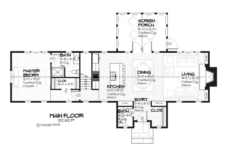 67 best floor plans images on pinterest for Cottage house plans with basement