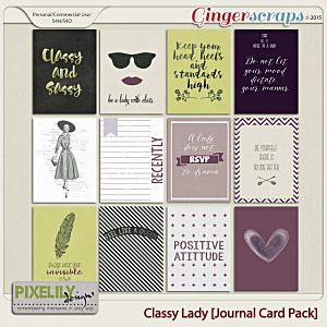{Classic Lady} Digital Journal Card Pack by Pixelily Designs available at Gingerscraps http://store.gingerscraps.net/Pixelily-Designs/ #digiscrap #digitalscrapbooking #pixelilydesigns #classiclady