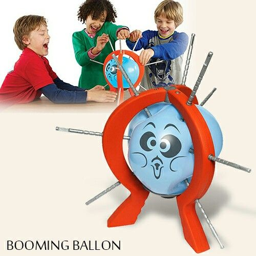 Booming ballon is the crazy game where you take turns at trying not to pop the balloon! The game is very exciting because you never know when the balloon will pop. The set is easy to assemble and portable to carry, the party or travel will never be boring with this booming balloon game set.