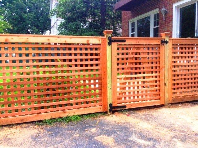 Lions Fence Award Winning Local Co Lattice Fence Custom Wood Fence