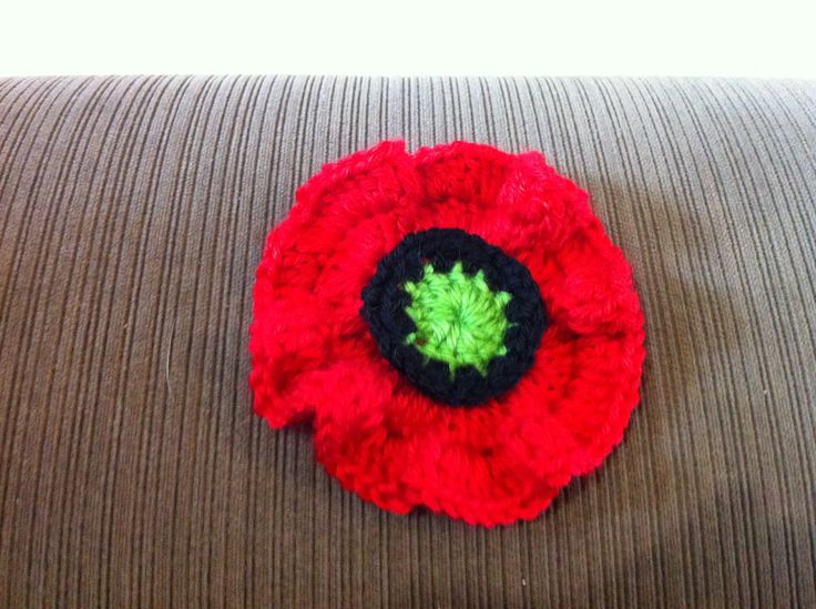 I made this because a lady at the crochet section at the Canberra Show gave me a pattern for the 5000 Poppies project.