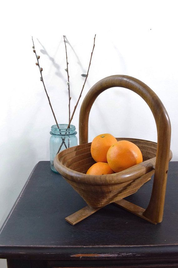 Handcrafted Wooden Fruit Bowl Farmhouse Decor by ASECONDHANDSHOP